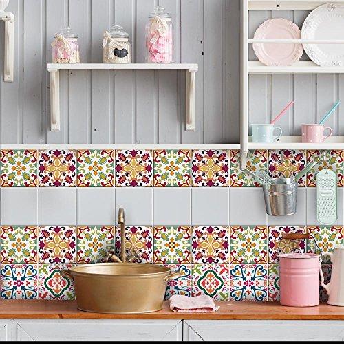 wall art PS00037 Adesivi in PVC per Piastrelle per Bagno e Cucina Stickers Design - Giugno
