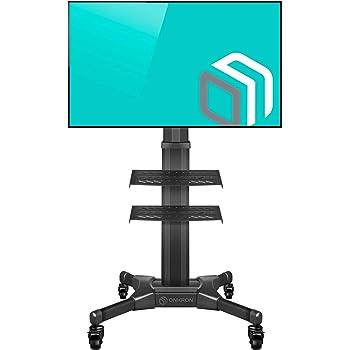 ONKRON TS2551 Carro TV Soporte para TV de Suelo móvil Carrito Portátil para Pantallas LCD LED OLED de 32 a 55 Pulgadas VESA Máx 600x400 mm Pie para TV Base para TV: