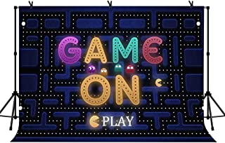 LYLYCTY 7x5ft Pac-Man Game Background for Banner Decoration Birthday Party Background Movie Photography Background Props LYLS919