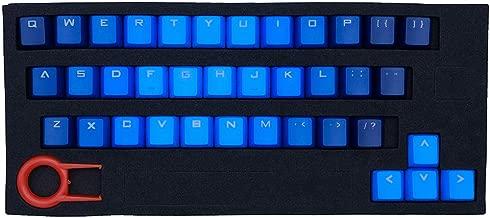 ATTAV 37 Keys PBT Backlit Keycaps Double-Color Injection Keycap Set for Mechanical Keyboard(Blue Gradient)