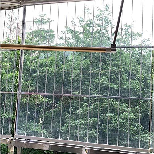 Persianas Enrollables Transparentes para Exteriores, Pérgola Deck Gazebo Patio Balcón Ventana Aislamiento Persiana / Lona / Cubierta, para Cortavientos, 70/90/110/130 cm de Ancho ( Size : 70x110cm )