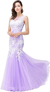 Pink Lace Mermaid Evening Gowns Sheer Sleeveless Long Formal Dress