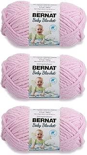Bernat Bulk Buy Baby Blanket Yarn (3-Pack) Baby Pink 161103-3200