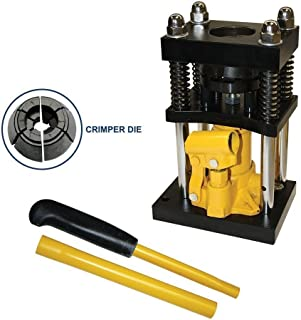 Interstate Pneumatics H10-8 Manual Benchtop Hydraulic Jack Air Hose Crimper - 1/2 inch to 3/4 inch
