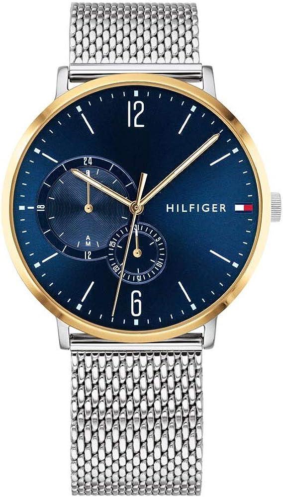Tommy hilfiger, orologio,cronografo multi-quadrante per uomo,in acciaio inossidabile 1791505