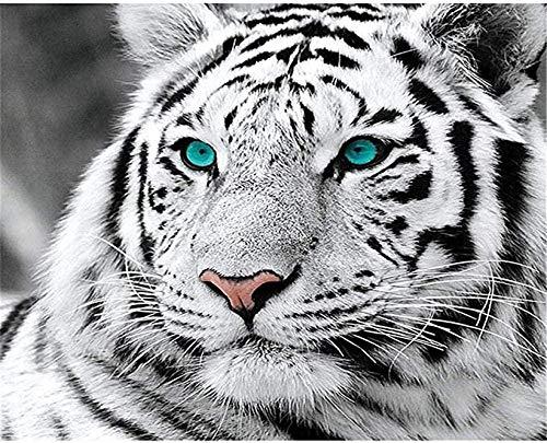 Puzzle 1000 Piezas,Tigre Blanco para Adultos Y Niños DIY Pintura Clásica Decoración Moderna para El Hogar Festival Regalo Juego Intelectual Arte De La Pared