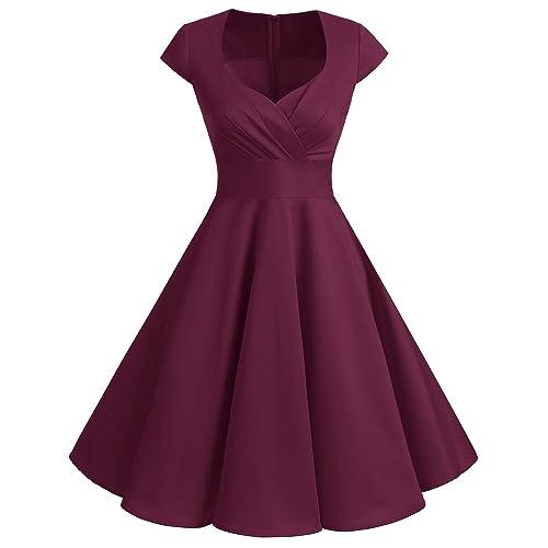 310a8b41036ae bbonlinedress Women's 50s 60s A Line Rockabilly Dress Cap Sleeve Floral  Vintage Swing Party Dress