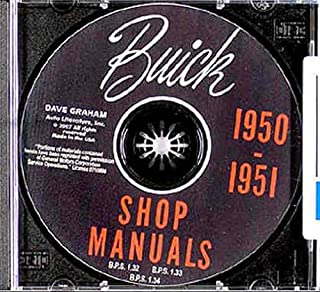 1950 1951 BUICK FACTORY REPAIR SHOP & SERVICE MANUAL & FISHER BODY MANUAL CD COVERS Special, Super, and Roadmaster cars. 50 51