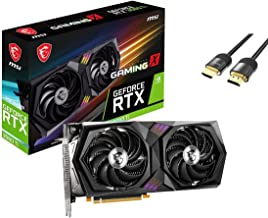 MSI Gaming GeForce RTX 3060 Ti LHR Version Graphics Card 8GB GDDR6 PCIe 4.0 Dual-Fan Ampere Architecture Torx Fan 4.0 Zero...
