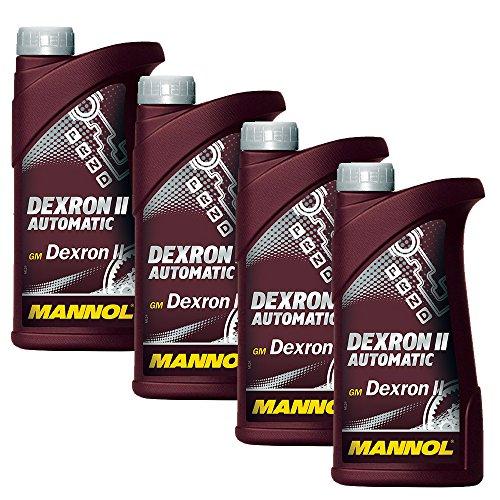 MANNOL 4 x 1L ATF Dexron II Automatic/Automatikgetriebe- Servo- Öl