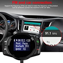 Elliot Jonah Bluetooth FM Transmitter for Car, Wireless Radio Adapter Hands-Free Kit Color Display with Auto Search FM Blank Channel & QC3.0 Fast Charging Function, Support USB