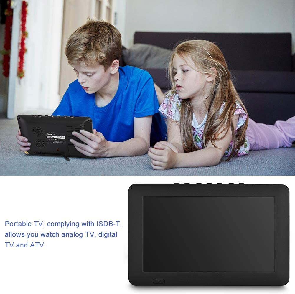 MOV AVI VBESTLIFE ISDB-T 9 Zoll Fernseher,Digital Farb TV Fernseher mit TFT LED Bildschirm,unterst/ützt RMVB MKV MP4 usw. 3GP EU