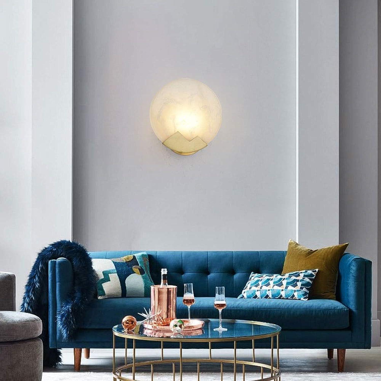 Yikuo Postmoderne Kupfer Wandleuchte Amerikanischer Minimalist Schlafzimmer Bett Wohnzimmer Gang Tv Wand Led Wandleuchte   20  20cm   E14  1 Elegant und schn
