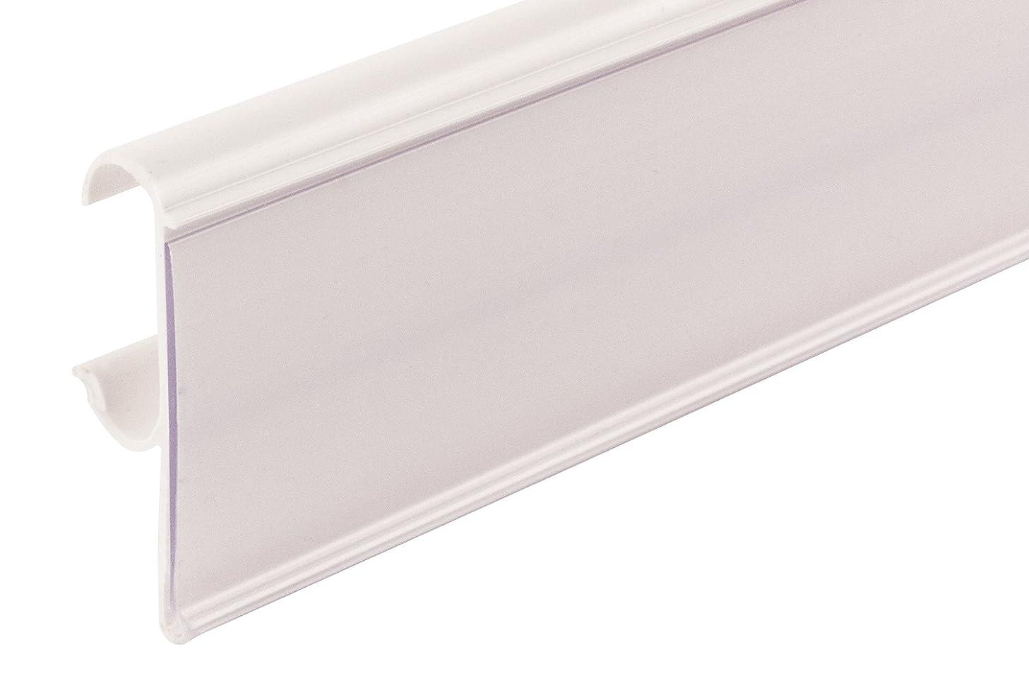 FFR Merchandising 4405757101 Data Strip Label Holder for Double Wire Shelf, White (Pack of 65)