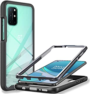 OnePlus 8T Case, LaimTop 360° Full Body Clear Back Cover with Screen Protector Dual Layer Shockproof Anti-slip Rugged Bump...