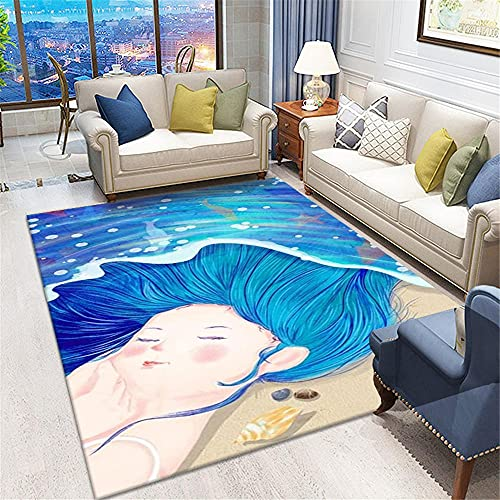 cuadros decoracion salon grandes alfombras infantiles Alfombra de la habitación para niños Velvet bajo rectangular Agua Agua Lavable cuadros cabecero cama matrimonio 120X180CM 3ft 11.2'X5ft 10.9'