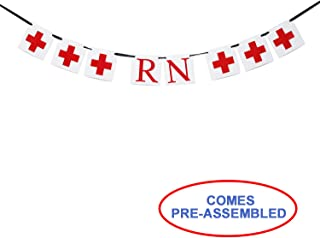 RN Banner - Nurse Banner - Nurses Graduation Party Decorations - RN Gifts - Nurse Retirement Ideas - Medical School Hospital Party Decorations