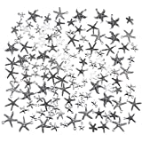 PH PandaHall Starfish Pendants, 140pcs 10 Styles Tibetan Style Alloy Sea Stars Shape Charm Pendants for Earring Bracelet Necklace Jewelry DIY Craft Making, Antique Silver