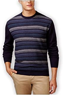 Weatherproof Mens Marled Striped Pullover Sweater