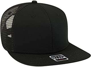 OTTO Square Flat Visor SNAP 6 Panel Mesh Back Trucker Snapback Hat