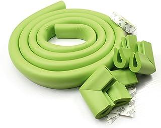 4 Eckensch/ützer FEIGO 2m L/änge Kantenschutz 4 Steckdosenschutz Kinderschutz soft ungiftig und umweltfreundlich Kinderschutz Beige