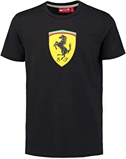 Ferrari Black Classic Shield Tee Shirt