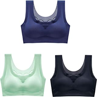 Ultrathin Ice Silk Plus Size Bra, Women's No Steel Ring Sport Camisole