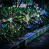 Solar Firework Light, Epicgadget 105 LED Multi Color Outdoor Firework Solar Garden Decorative Lights for Walkway Pathway Backyard Christmas Decoration Parties (2 Pieces)