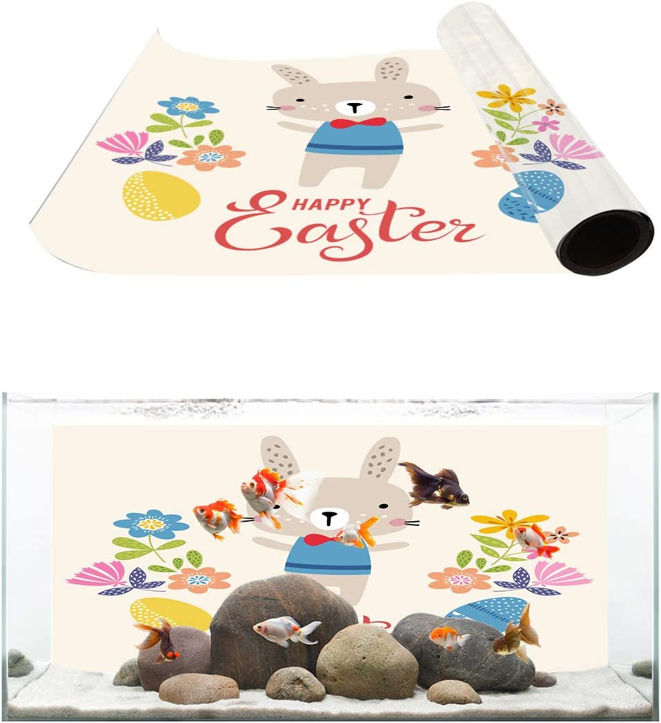 TH XHome Aquarium Décor Backgrounds Egg Easter Rabbit El Paso Mall Under blast sales Flo Happy