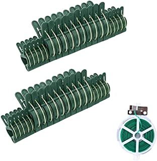 Erstewahls 40 PCS Plant and Flower Clips - Gardening Spring Clips for Plants, Stems Support(2 Sizes),Multi-Purpose 164 fee...