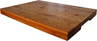 Rectangular Bamboo Skewer Display, PacknWood - Decorative Food Display Stand Holds 120 Bamboo Skewers, Picks (13.8
