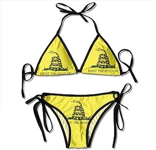 Swimsuit Don't Tread On Me Gadsden Flag Bikini Set Sexy Swimwear Bathing Suit
