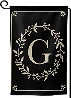 MSGUIDE Garden Flag Vertical Double Sided 12.5 X 18 Inch, Monogram Letter G Welcome House Flag Weather Resistant Banner fo...