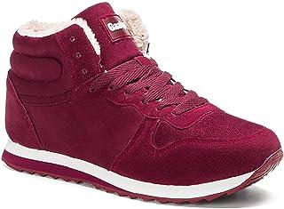 Gaatpot Mixte Adulte Chaussures Bottes Hiver DE Neige FOURRÉES Bottines Mode Courtes avec Doublure Chaude Noir EU 35.5-47EU