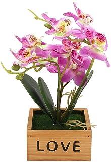Fdit Plantas Artificiales en Maceta de Madera para bonsáis, Novias, Bodas, Fiestas, decoración del hogar y la Oficina