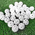 12Pcs 42.6mm Plastic Hollow Training Golf Balls, Home Indoor Driving Range Training Ball for Swing Practice(White)