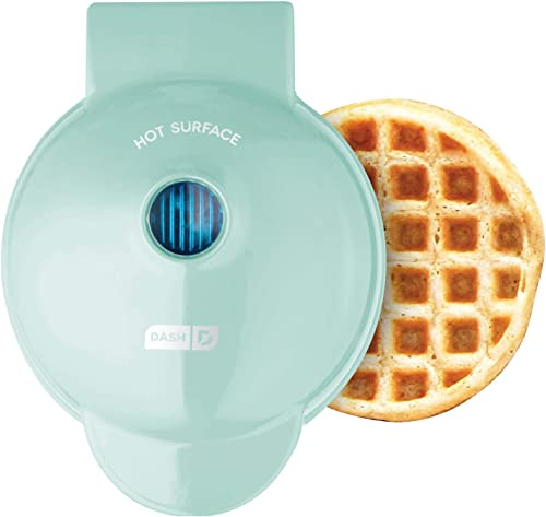 Dash DMW001AQ, Mini Waffle Maker Machine for Individuals, Paninis, Hash Browns, & Other On the Go Breakfast, Lunch, o...