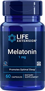 Life Extension Melatonin, 1mg - 60 Capsules