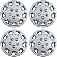 Hubcaps 14 inch Wheel Covers - (Set of 4) Hub Caps for 14in Wheels Rim Cover - Car Accessories Silver Hubcap Best for 14inch Cars Standard Steel Rims - Snap On Auto Tire Replacement Exterior Cap