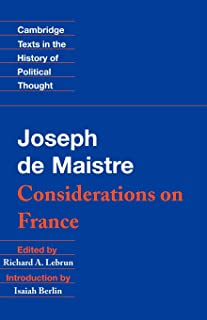 de maistre considerations on france
