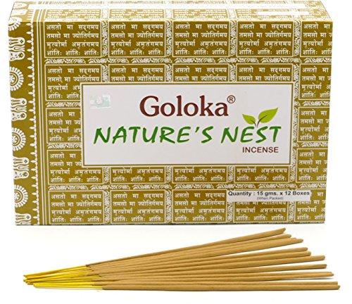 GOLOKA Nature's Nest, Bastoncini di incenso al Masala, Confezione da 12