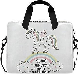 "Unicorn On A Rainbow 15.6"" 16"" Laptop Case Sleeve Briefcase Computer Shoulder Bag W/Strap"