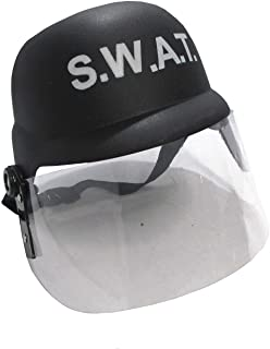 Nicky Bigs Novelties Child Police S.W.A.T. Team Helmet with Folding Visor Costume Accessory Black