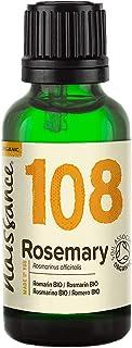 Naissance Organic Rosemary Essential Oil (#108) 30ml - Pure, Natural, Certified Organic, Cruelty Free, Vegan, Steam Distil...