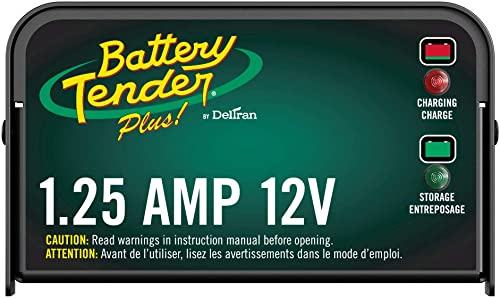 Battery Tender Plus Charger and Maintainer: 12V, 1.25 Amp Powersport Battery Charger and Maintainer for Motorcycles, ...