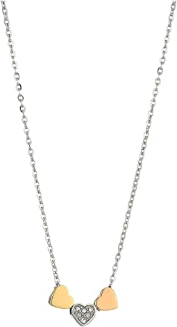 Fossil Heart Motif Chain Necklace