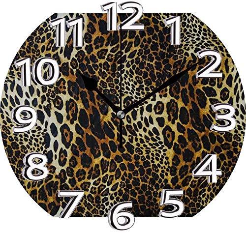AZHOULIULIU Co.,ltd Reloj silencioso con Estampado de Leopardo