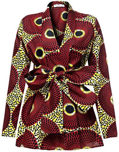 Shenbolen Damen traditionelle afrikanische batik-druck langarm-shirt dashiki beiläufiges baumwollhemd xx-large b
