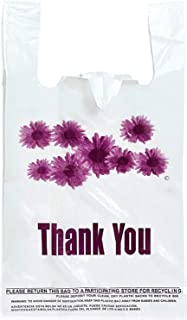 Purple Flower Thank You Plastic t-Shirt Bags - 300 pcs/case