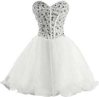 Snowskite Women`s Sweetheart Short Beading Homecoming Party Prom Dress